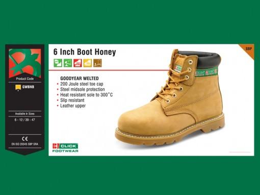 6 Inch Boot Honey