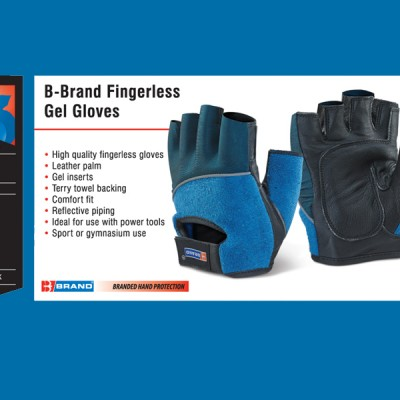 B-Brand Fingerless Gel Gloves