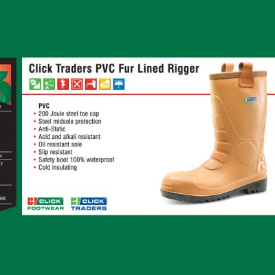 Click Traders PVC Fur Lined Rigger