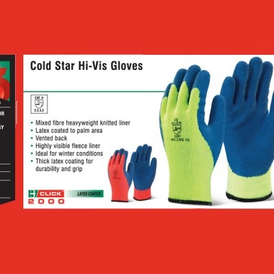 Cold Star Hi-Vis Gloves