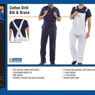 Cotton Drill Bib & Brace