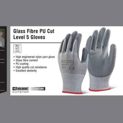 Glass Fibre PU Cut Level 5 Gloves