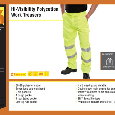 Hi-Visibility Polycotton Two-Tone Trousers