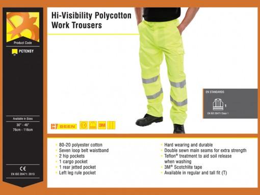 Hi-Visibility Polycotton Two-Tone Trousers