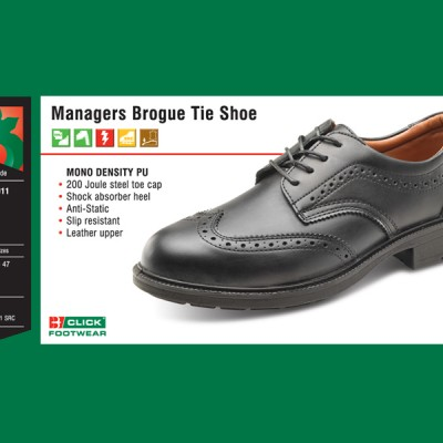 Managers Brogue Tie Shoe