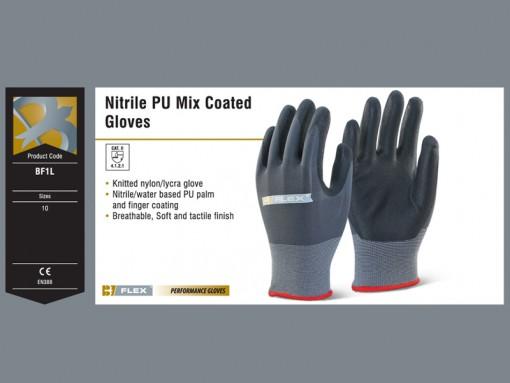 Nitrile PU Mix Coated Gloves