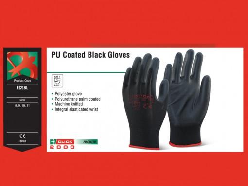 PU Coated Black Gloves
