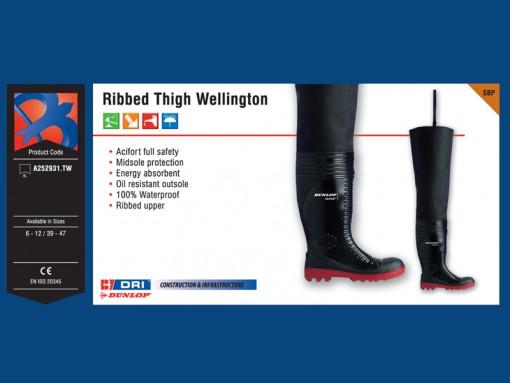Ribbed Thigh Wellington