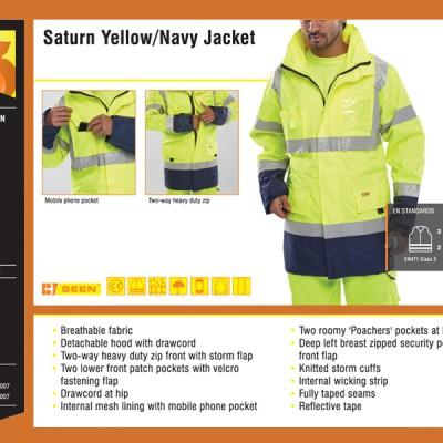 Saturn Yellow Navy Jacket