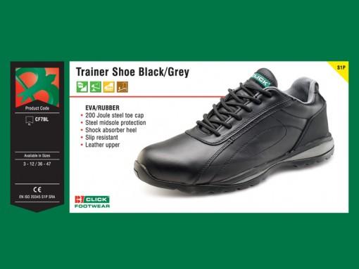 Trainer Shoe Black Grey