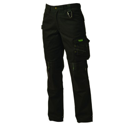 Ballistic Black Canvas Work Trouser