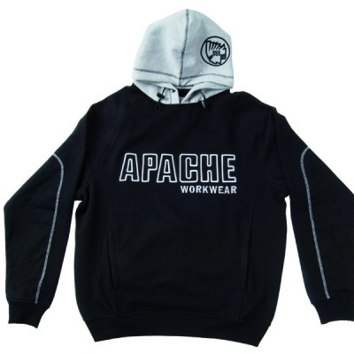 Black Grey Hooded Sweat Shirt