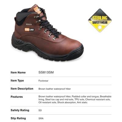 Brown Leather Waterproof Hiker SS813SM