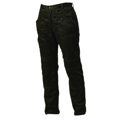 Grindstone Black Knee Pocket Action Trouser