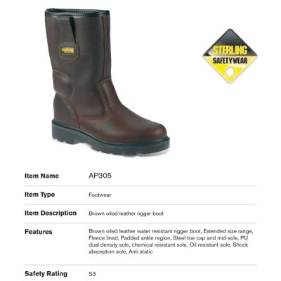 Sterling Brown Oiled Leather Rigger Boot AP305