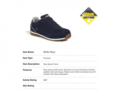 Strike Navy Sports Trainer